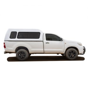 Toyota Single cab Fibreglass Canopy Side